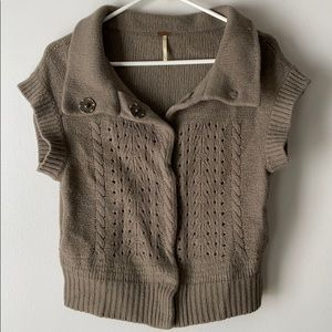 Free People Lambswool/Angora Blend Sweater
